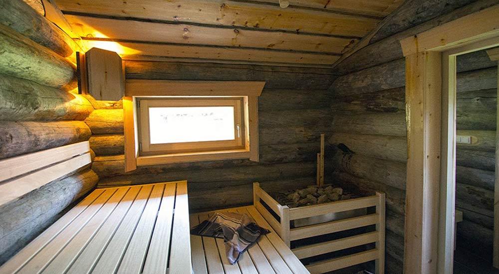 Design Aussensauna aussen blockhaus kelo garten saunavita
